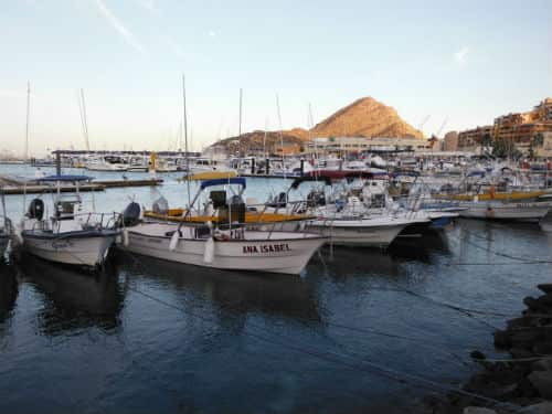 Super Pangas you can book for fishing charters Cabo San Lucas
